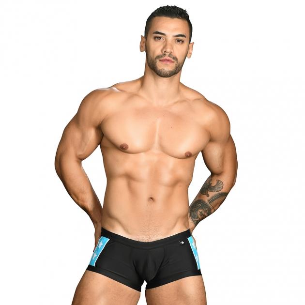 7716 超級英雄-四角泳褲(黑) 1