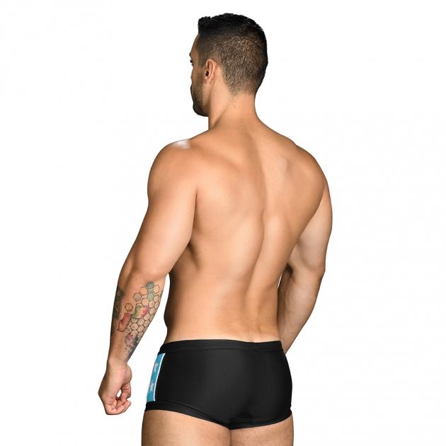 7716 超級英雄-四角泳褲(黑) 3