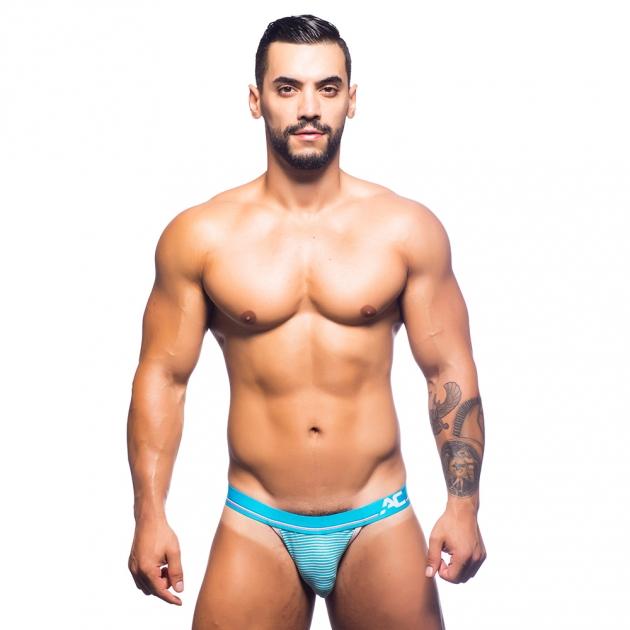 90522-藍白條紋-性感情趣內褲 1