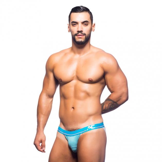 90522-藍白條紋-性感情趣內褲 2