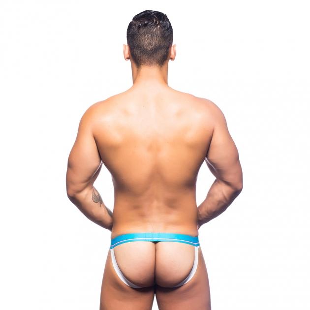 90522-藍白條紋-性感情趣內褲 3
